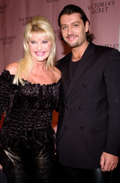 NEW YORK - NOVEMBER 14: (L-R) Socialite Ivana Trump and actor Rossano Rubicondi arrive for the Victoria's Secret Fashion Show November 14, 2002 in New York City. (Photo by Lawrence Lucier/Getty Images)
